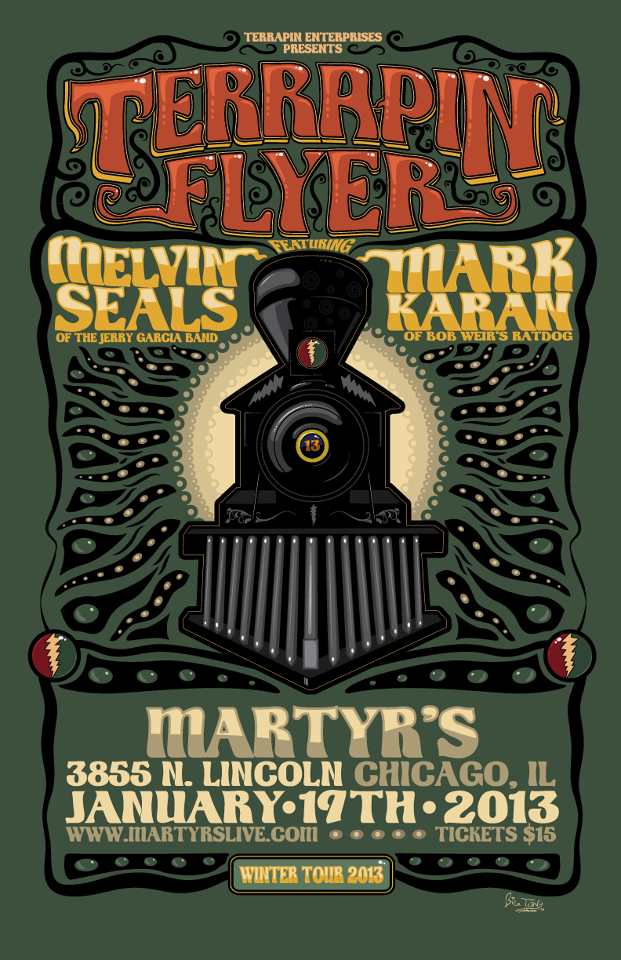 Setlist, Stream, Download: Terrapin Flyer with Melvin & Mark @ Martyrs 1/19/13