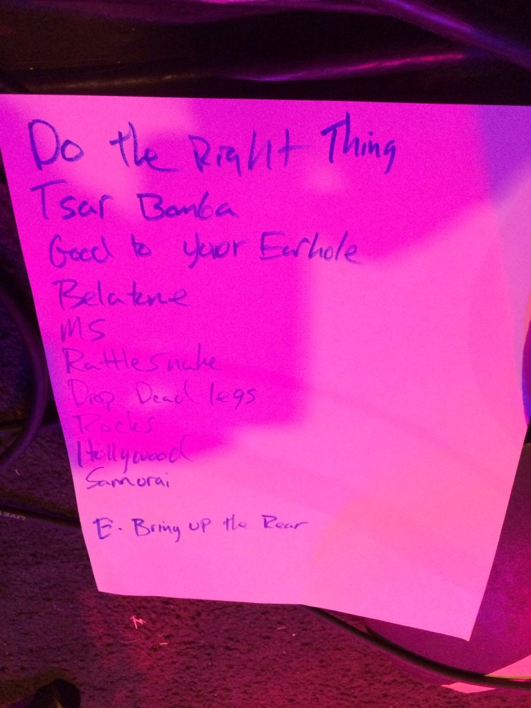 Setlist / Video: Kung Fu @ Schuba's 10/23/13