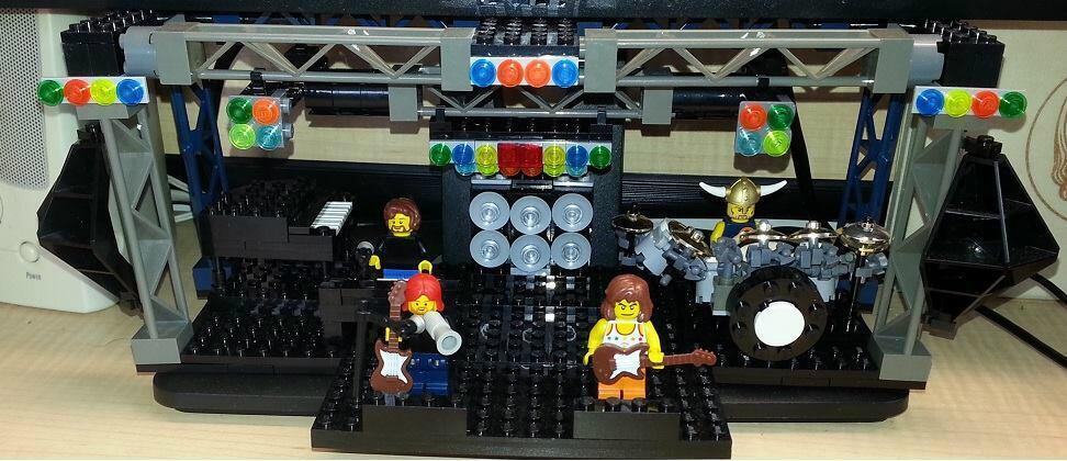 More Musical Lego Creations: Phish, The Beatles, A Record Store