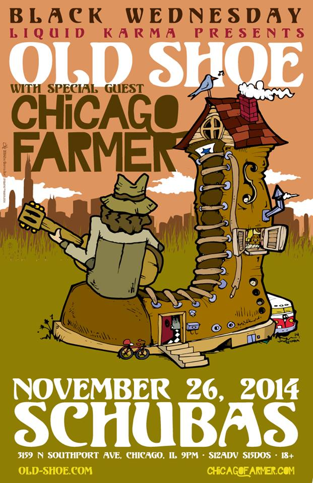 Contest   Old Shoe & Chicago Farmer Meet-and-Greet @ Schuba's 11/26/14 [Black Wednesday]