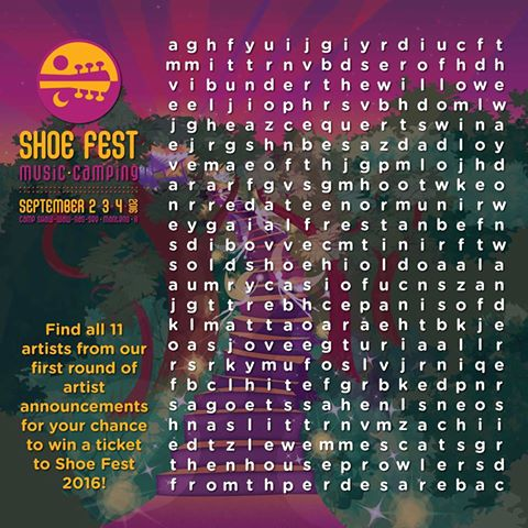 Shoe Fest Announces Initial 2016 Lineup With Word Search
