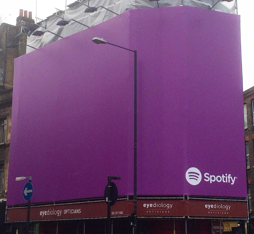 Purple Billboards & Public Space Ads Signify Prince Coming To Spotify